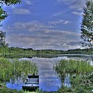 boat and lake in hdr by 3rdrock