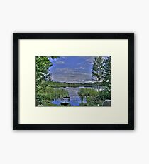 boat and lake in hdr Framed Print