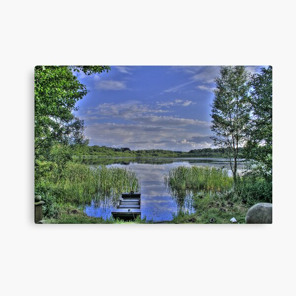 boat and lake in hdr Canvas Print