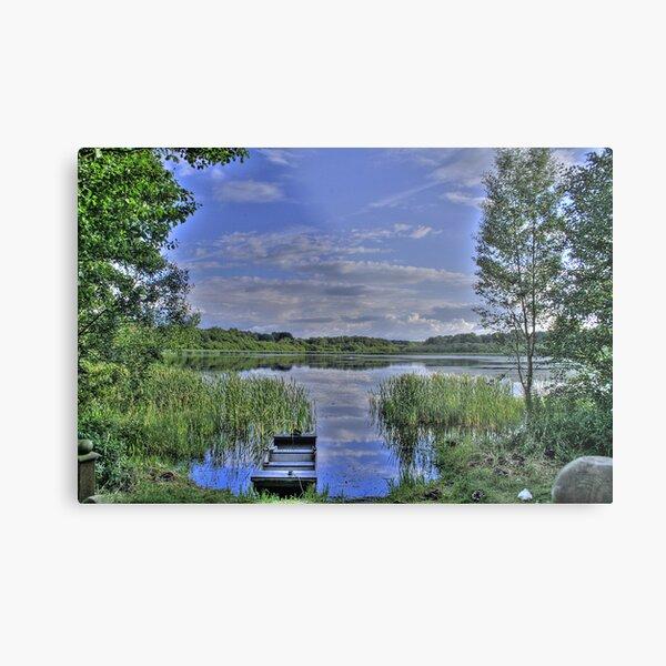 boat and lake in hdr Metal Print