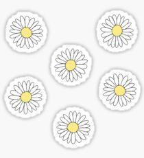 Pegatina Cute Daisy Flower Pattern