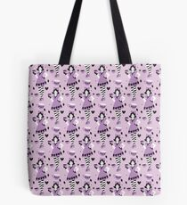 Alice in Teacupland in purple Tote Bag