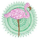 Flamingo mandala by paviash