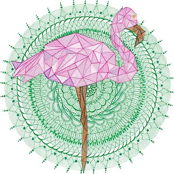 Flamingo mandala by paviash