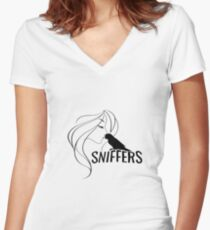 SNIFFERS Women's Fitted V-Neck T-Shirt