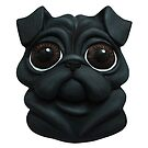 3D Pug Illustration (Black) by a4matic