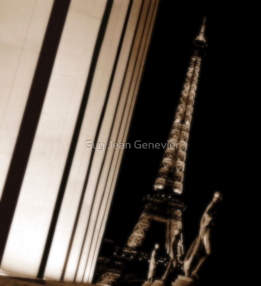 Eiffel tower at night by Guy Jean Genevier