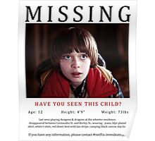 Stranger Things Finding WIll Byers Posters By Jeccacariaga