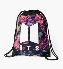 BTS Flowers Logo Drawstring Bag