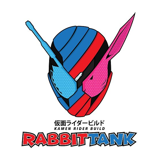 Kamen Rider Build Rabbittank Masked Rider Posters By Kyz Bubble