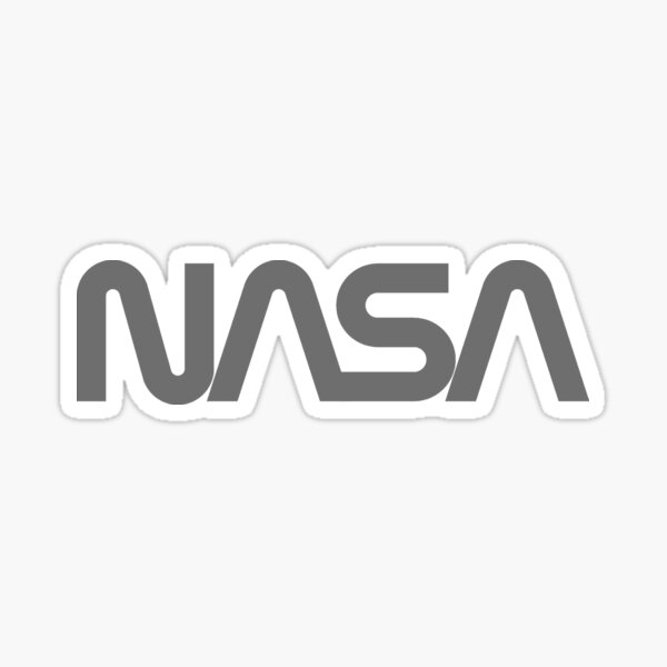 NASA Worm logo for Dark Colors Sticker