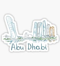 Abu Dhabi Panorama Sticker