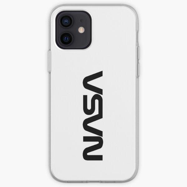 NASA Black Logotype (Worm) Insignia iPhone Soft Case