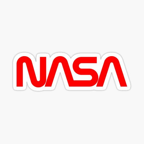 NASA Red Worm Logo Sticker