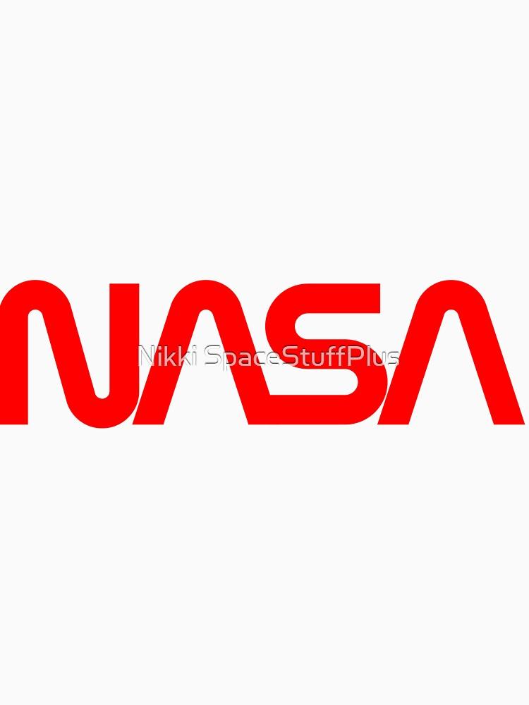 «Logo de la NASA Red Worm» par Spacestuffplus