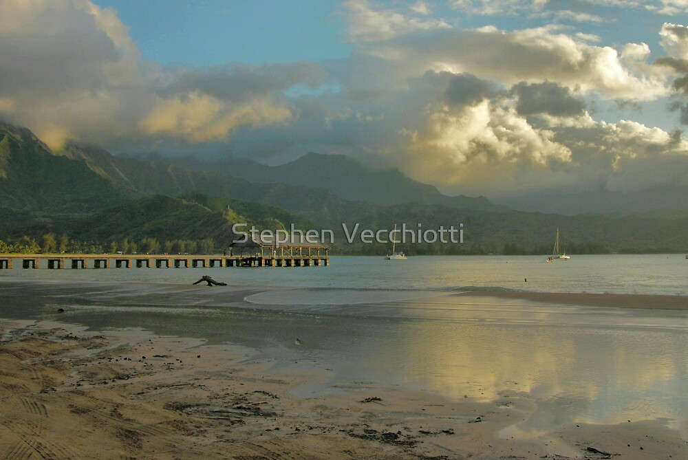 Hanalei Bay Evening by Stephen Vecchiotti