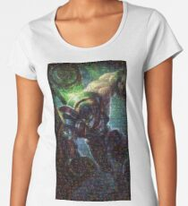Singed Mosaic Portrait 6 Women's Premium T-Shirt
