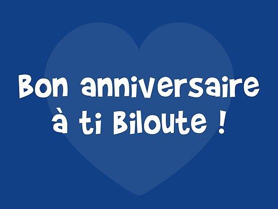 Bon Anniversaire A Ti Biloute Posters Par Humour Chti Redbubble