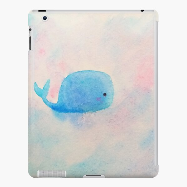 2 Baby Blue Whales ❤ Painted with watercolours iPad Snap Case