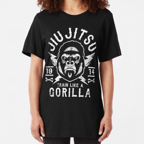 JIU JITSU - TRAIN LIKE A GORILLA Slim Fit T-Shirt