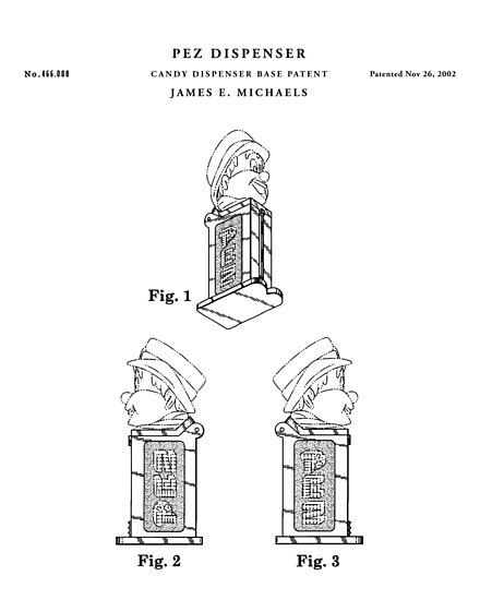 Pez patent drawing blueprint posters by vintago redbubble pez patent drawing blueprint by vintago malvernweather Choice Image