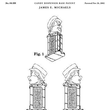 Pez Patent Drawing Blueprint by Vintago
