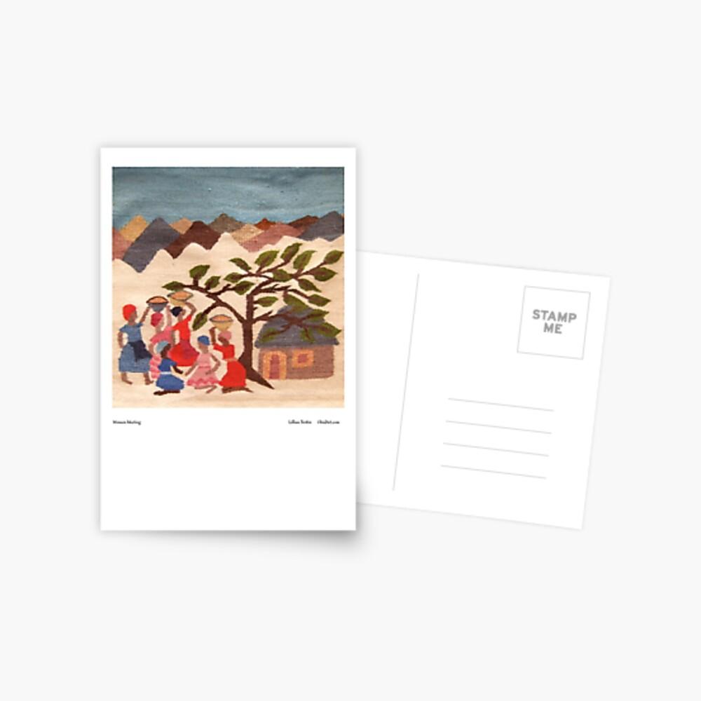 Women Meeting Postcard