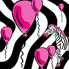 Little Pink Zebra's Dream Balloons by celtix