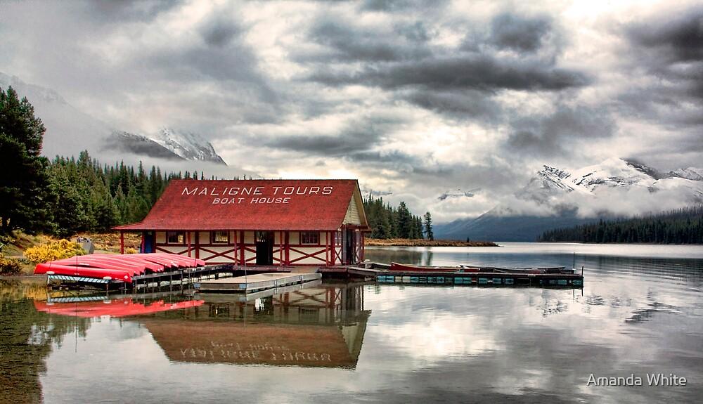 Maligne Lake Boat House by Amanda White