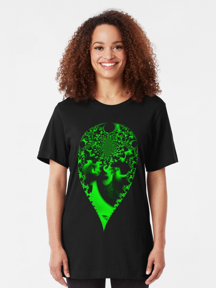 Alternate view of Swirling Verdant II Slim Fit T-Shirt