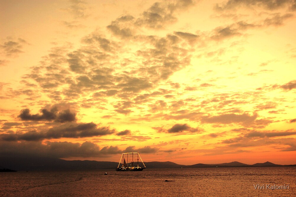 Naxos Island by Vivi Kalomiri