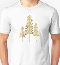 Pine Trees – Gold Palette Unisex T-Shirt