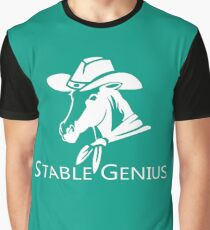 Stable Genius | Horse Equestrian Cowboy Graphic T-Shirt