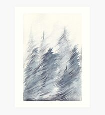 Forest Snow Storm Art Print