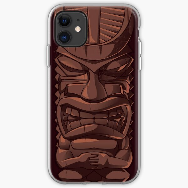 Wooden Tiki Statue Totem Sculpture iPhone  Case iPhone Soft Case
