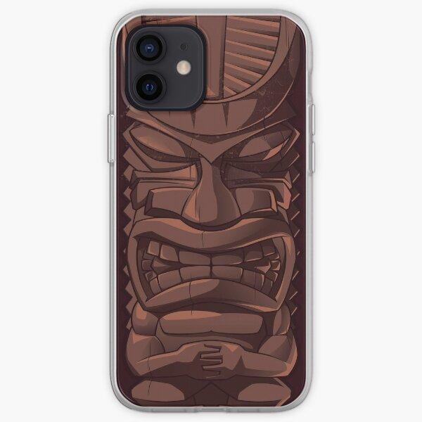 Wooden Tiki Statue Totem Sculpture iPhone  Case iPhone Soft Case