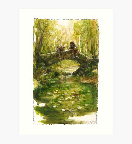 Shire Bridge (original) Art Print