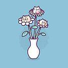 Flower felines by Randyotter