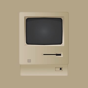 Old Retro Vintage PC Computer  by CroDesign