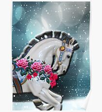 Portrait of rocking horse in the stars Poster