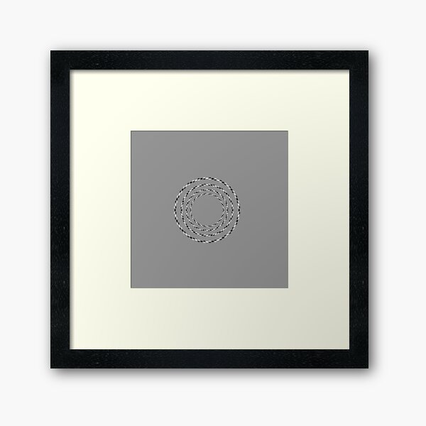 Optical Illusion, visual illusion, cognitive perception, #OpticalIllusion, #VisualIllusion, #CognitivePerception, #Optical, #Visual, #Illusion, #Cognitive, #Perception Framed Art Print
