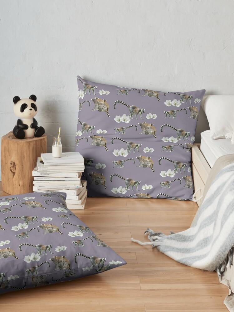 Alternate view of Lemur love Floor Pillow