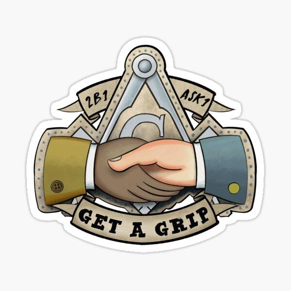 """Masonic """"2B1 Ask1 & Get a Grip"""" Sticker (Diversity) Sticker"""