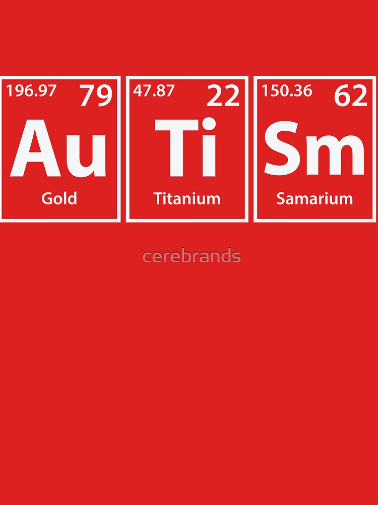 autism au ti sm periodic elements spelling by cerebrands - Periodic Table Autistic