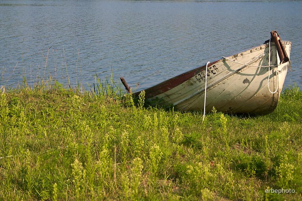 Lone Rowboat by erbephoto