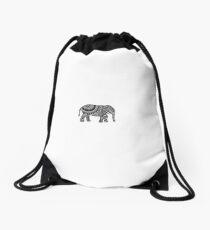 elephant art Drawstring Bag