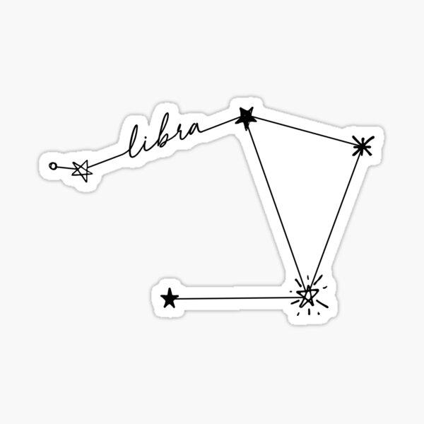 Pegatina Dibujo de la constelación de Libra Pegatina