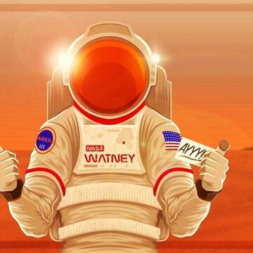 The Martian Hello by agliarept
