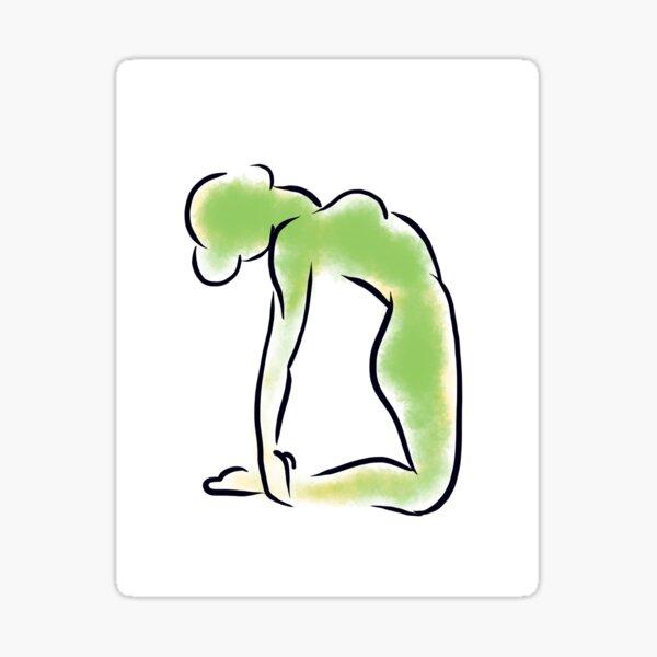 Camel Yoga Pose Sticker