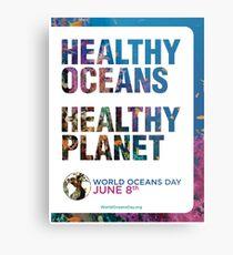 Stil 1: Poster zum Welttag der Ozeane Metalldruck